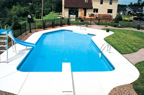 Inground Pools With Diving Board And Slide